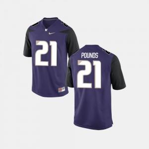Washington Huskies Quinten Pounds Jersey #21 College Football Purple Mens