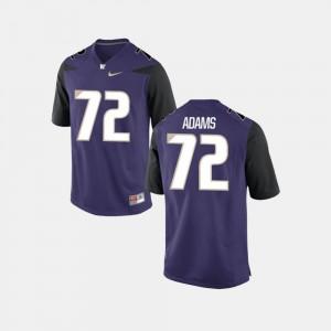 Washington Huskies Trey Adams Jersey Purple Mens #72 College Football