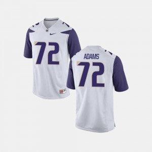 Washington Huskies Trey Adams Jersey #72 Mens College Football White