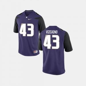 Washington Huskies Tristan Vizcaino Jersey College Football #43 Purple Men's