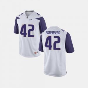 Washington Huskies Van Soderberg Jersey Men #42 White College Football