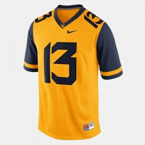 West Virginia Mountaineers Andrew Buie Jersey For Men's Gold #13 College Football