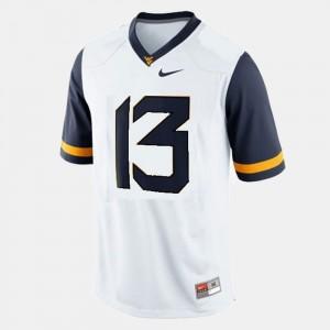 West Virginia Mountaineers Andrew Buie Jersey #13 Men White College Football