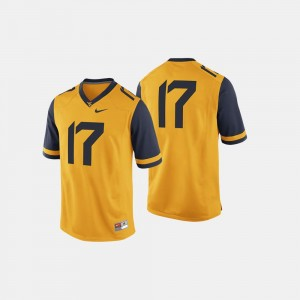 West Virginia Mountaineers Jersey Gold College Football For Men's #17