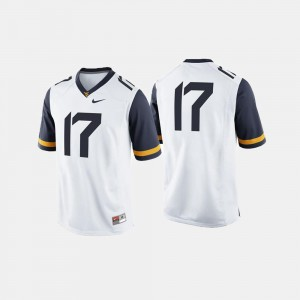 West Virginia Mountaineers Jersey #17 Men's College Football White