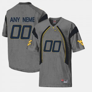 West Virginia Mountaineers Customized Jerseys Men's Gray College Limited Football #00