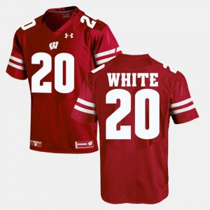 Wisconsin Badgers James White Jersey #20 Alumni Football Game Red For Men