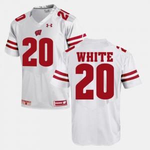 Wisconsin Badgers James White Jersey White Alumni Football Game For Men #20