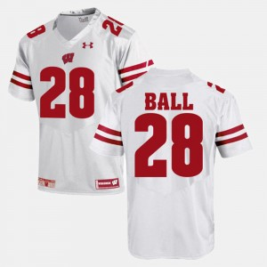 Wisconsin Badgers Montee Ball Jersey White #28 For Men's Alumni Football Game