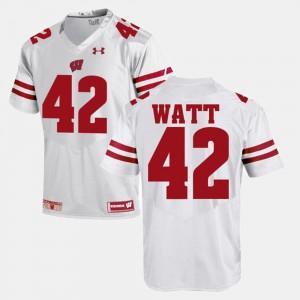 Wisconsin Badgers T.J Watt Jersey #42 Men White Alumni Football Game