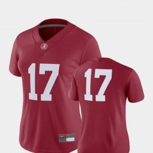 Alabama Crimson Tide Jersey 2018 Game Women Crimson #17 College Football