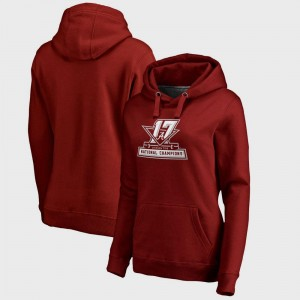 Alabama Crimson Tide Hoodie Women Crimson College Football Playoff 2017 National Champions Official Bowl Game