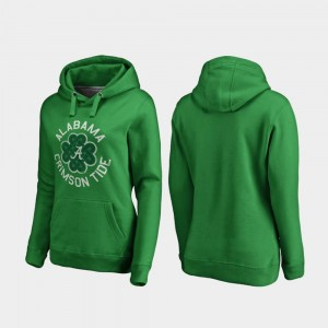 Alabama Crimson Tide Hoodie Womens St. Patrick's Day Luck Tradition Kelly Green