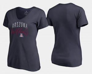 Arizona Wildcats T-Shirt Navy V-Neck Graceful Women's