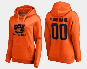 Auburn Tigers Customized Hoodie Women Basketball - Orange #00