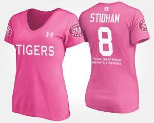 Auburn Tigers Jarrett Stidham T-Shirt With Message For Women's Pink #8