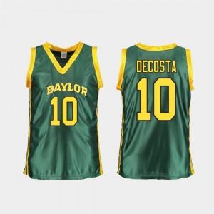 Baylor Bears Aquira DeCosta Jersey #10 Replica Women Green College Basketball
