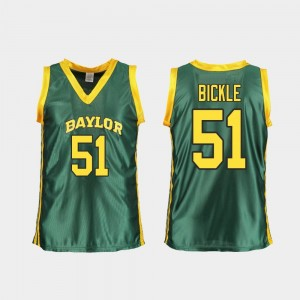 Baylor Bears Caitlyn Bickle Jersey Women College Basketball #51 Replica Green