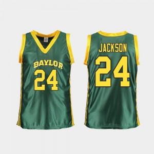 Baylor Bears Chloe Jackson Jersey Replica College Basketball #24 For Women Green