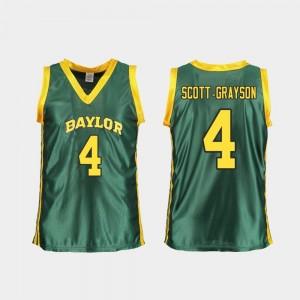 Baylor Bears Honesty Scott-Grayson Jersey For Women Replica College Basketball Green #4