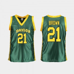Baylor Bears Kalani Brown Jersey For Women's College Basketball Green #21 Replica