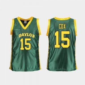 Baylor Bears Lauren Cox Jersey Replica Green College Basketball Women #15