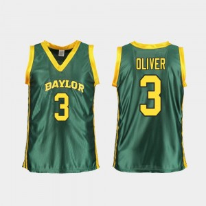 Baylor Bears Trinity Oliver Jersey Women Green College Basketball Replica #3