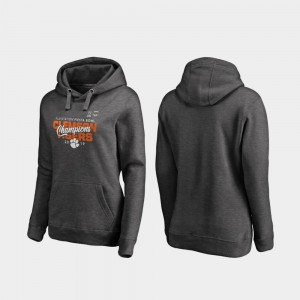 Clemson Tigers Hoodie 2019 Fiesta Bowl Champions College Football Playoff Curl Womens Heather Gray