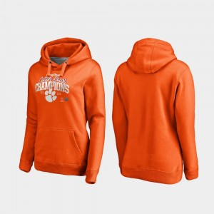Clemson Tigers Hoodie College Football Playoff Flea Flicker Orange Women's 2018 Cotton Bowl Champions