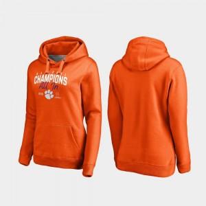Clemson Tigers Hoodie Orange 2018 National Champions College Football Playoff Huddle Women