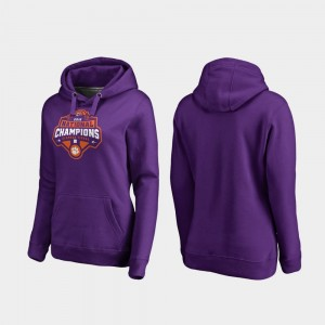 Clemson Tigers Hoodie 2018 National Champions Purple College Football Playoff Gridiron Womens