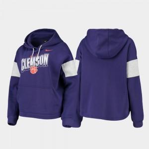 Clemson Tigers Hoodie Pullover Women Local Purple