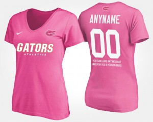 Florida Gators Custom T-Shirts For Women Pink With Message #00