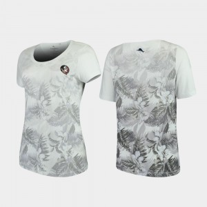Florida State Seminoles T-Shirt Floral Victory Tommy Bahama White For Women