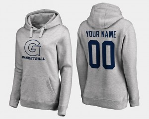 Georgetown Hoyas Customized Hoodies Basketball - Women Gray #00