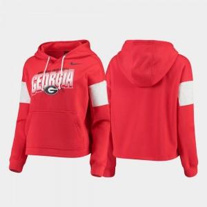 Georgia Bulldogs Hoodie Local Red Ladies Pullover