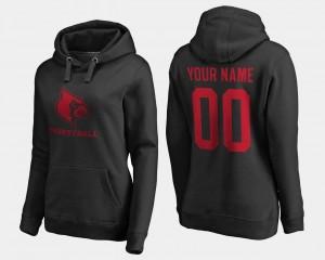 Louisville Cardinals Customized Hoodie For Women Basketball - #00 Black