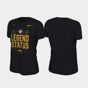 LSU Tigers T-Shirt Locker Room College Football Playoff 2019 National Champions Black For Women