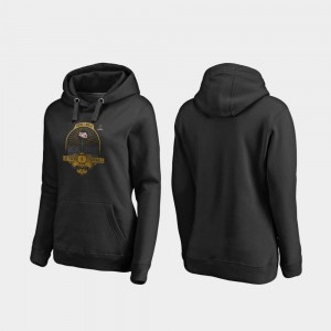LSU Tigers Hoodie College Football Playoff French Quarter For Women Black 2020 National Championship Bound