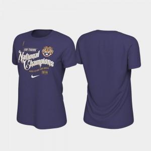 LSU Tigers T-Shirt 2019 National Champions Women Celebration College Football Playoff Purple