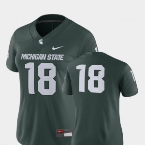 Michigan State Spartans Jersey 2018 Game #18 Women Green College Football