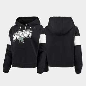 Michigan State Spartans Hoodie Pullover Local Black Women's