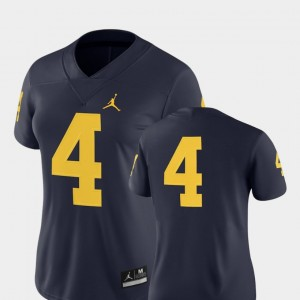 Michigan Wolverines Jersey Navy Womens College Football 2018 Game #4