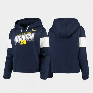 Michigan Wolverines Hoodie Navy For Women Pullover Local