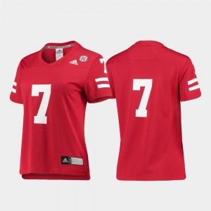 Nebraska Cornhuskers Jersey #7 College Football Women Replica Scarlet