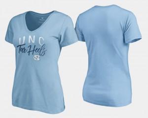 North Carolina Tar Heels T-Shirt Women V-Neck Graceful Carolina Blue