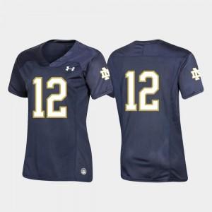 Notre Dame Fighting Irish Jersey Replica Navy Women #12 Football Team