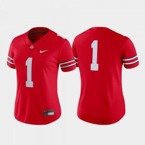 Ohio State Buckeyes Jersey Game Scarlet #1 Ladies College Football