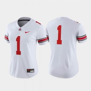 Ohio State Buckeyes Jersey White Women Game College Football #1