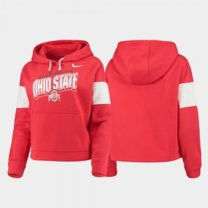 Ohio State Buckeyes Hoodie Ladies Scarlet Pullover Local